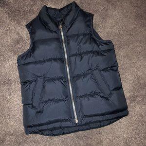 Boys navy blue puffer vest